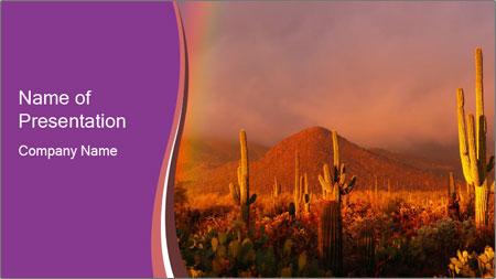 Rainbow sunset PowerPoint Template
