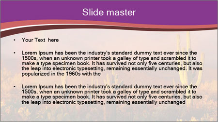 Rainbow sunset PowerPoint Template - Slide 2