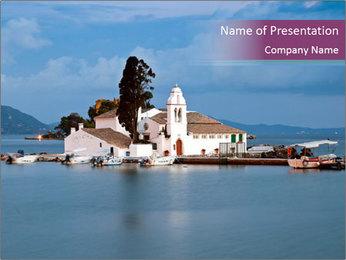 Vlacherna monastery PowerPoint Template - Slide 1