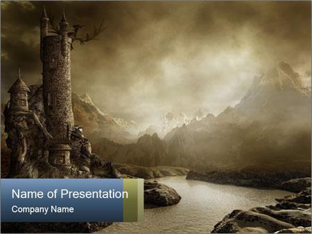 Fantasy landscape PowerPoint Template