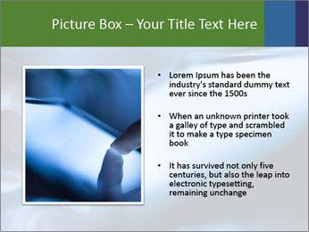 Finger touching screen PowerPoint Template - Slide 13