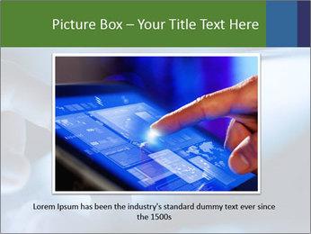 Finger touching screen PowerPoint Template - Slide 15