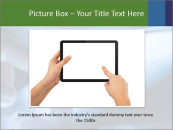 Finger touching screen PowerPoint Template - Slide 16