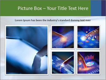 Finger touching screen PowerPoint Template - Slide 19