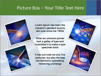 Finger touching screen PowerPoint Template - Slide 24