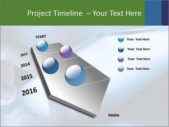 Finger touching screen PowerPoint Template - Slide 26