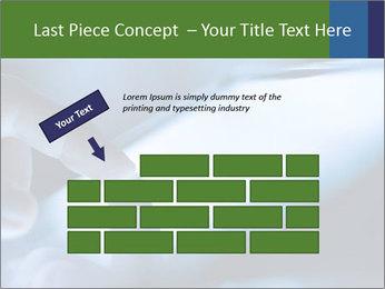 Finger touching screen PowerPoint Template - Slide 46