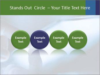 Finger touching screen PowerPoint Template - Slide 76