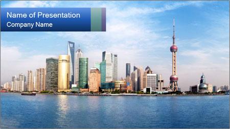 Shanghai Skyline PowerPoint Template