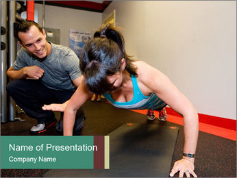Personal Trainer PowerPoint Template - Slide 1
