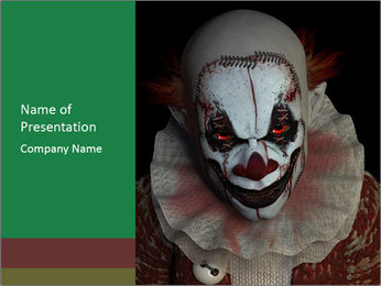 Scary clown PowerPoint Template - Slide 1
