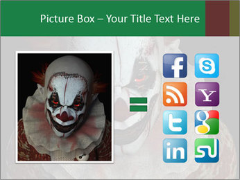 Scary clown PowerPoint Template - Slide 21