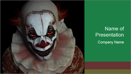 Scary clown PowerPoint Template