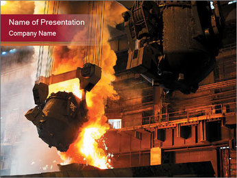 Metallurgical plant PowerPoint Template - Slide 1