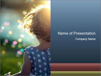 Little girl PowerPoint Template - Slide 1