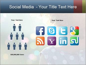 Little girl PowerPoint Template - Slide 5