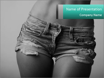 Woman body PowerPoint Template - Slide 1
