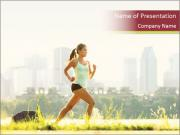 Running in city PowerPoint Templates