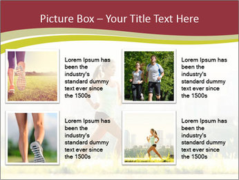 Running in city PowerPoint Templates - Slide 14