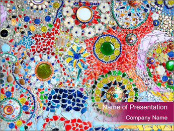 Colorful glass mosaic art PowerPoint Template - Slide 1