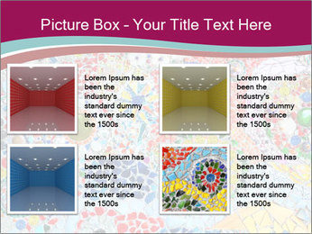 Colorful glass mosaic art PowerPoint Template - Slide 14