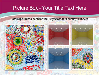 Colorful glass mosaic art PowerPoint Template - Slide 19