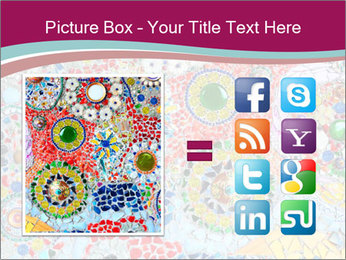 Colorful glass mosaic art PowerPoint Template - Slide 21