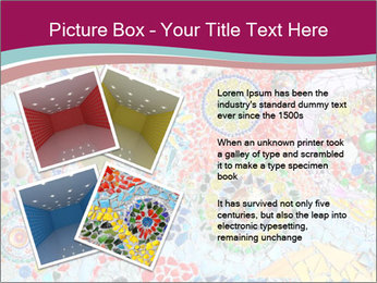 Colorful glass mosaic art PowerPoint Template - Slide 23