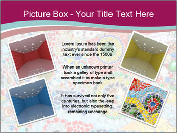 Colorful glass mosaic art PowerPoint Template - Slide 24