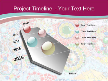 Colorful glass mosaic art PowerPoint Template - Slide 26