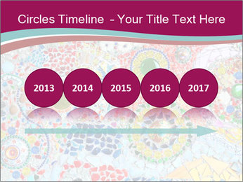 Colorful glass mosaic art PowerPoint Template - Slide 29