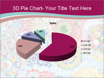 Colorful glass mosaic art PowerPoint Template - Slide 35