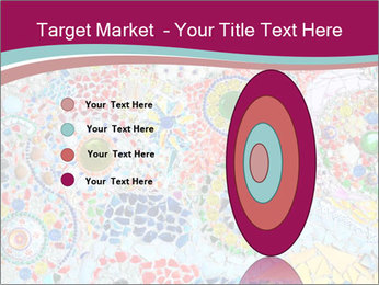 Colorful glass mosaic art PowerPoint Template - Slide 84
