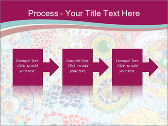 Colorful glass mosaic art PowerPoint Template - Slide 88