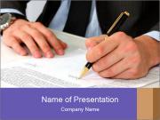 Businessman sitting PowerPoint Templates