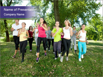 Runners PowerPoint Template - Slide 1