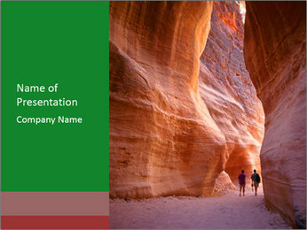Aslot-canyon PowerPoint Template - Slide 1