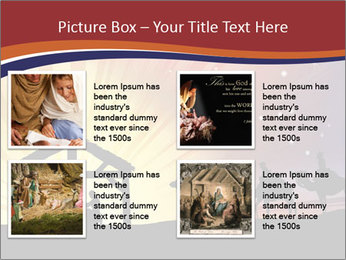 Christmas Nativity scene PowerPoint Templates - Slide 14