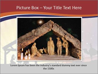 Christmas Nativity scene PowerPoint Templates - Slide 15