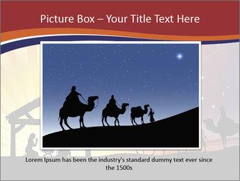 Christmas Nativity scene PowerPoint Templates - Slide 16
