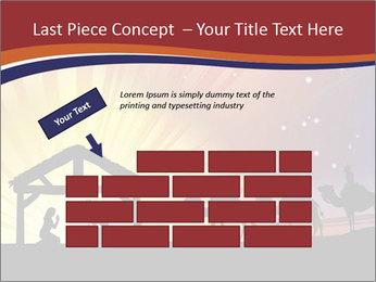 Christmas Nativity scene PowerPoint Templates - Slide 46