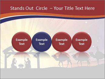 Christmas Nativity scene PowerPoint Templates - Slide 76