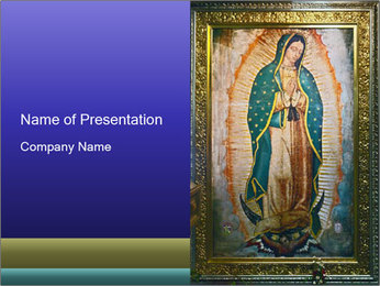 Icon of Our Lady PowerPoint Template - Slide 1