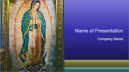 Icon of Our Lady PowerPoint Template