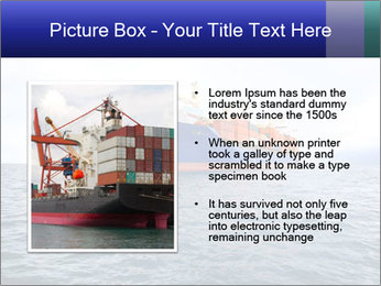 Commercial container ship PowerPoint Template - Slide 13