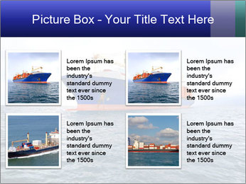 Commercial container ship PowerPoint Template - Slide 14