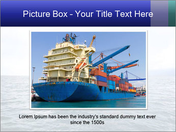 Commercial container ship PowerPoint Template - Slide 15
