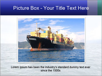 Commercial container ship PowerPoint Template - Slide 16