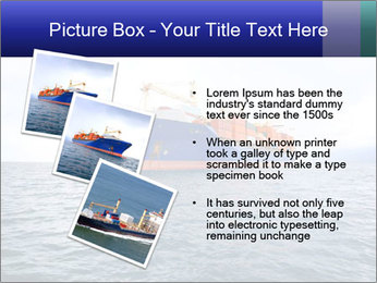 Commercial container ship PowerPoint Template - Slide 17