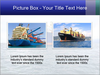Commercial container ship PowerPoint Template - Slide 18